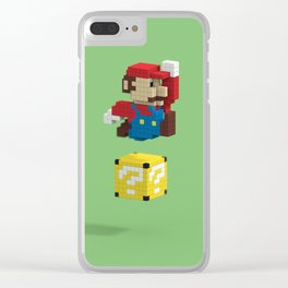 Voxel Mario Clear iPhone Case