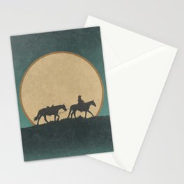 Roaming Paladin: Lonesome Cowboy and His Horses Stationery Cards