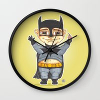 bats Wall Clocks featuring Bats by Shiny Superhero