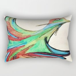 Aquarela bird Rectangular Pillow