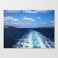 voyage Canvas Prints featuring Voyage by aeolia