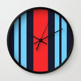 Martini Racing Colours Wall Clock