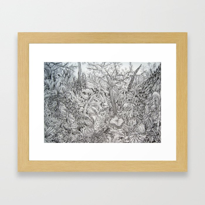 Flora and Fauna Framed Art Print