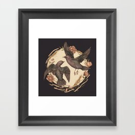 Starlings Framed Art Print