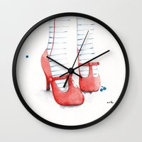 write Wall Clocks featuring I Will Write About It by anna hammer
