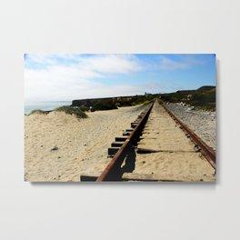 Tracks Into the Horizon Metal Print