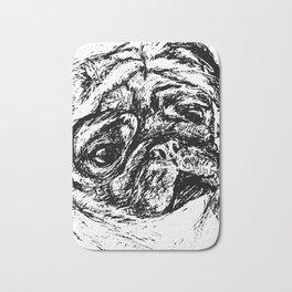 Sketchy Pug Bath Mat