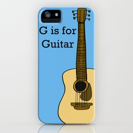 G is for Guitar iPhone Case