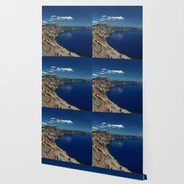 Crater Lake View with Caldera Rim Wallpaper
