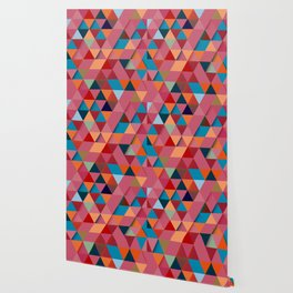 Colorfull abstract darker triangle pattern Wallpaper