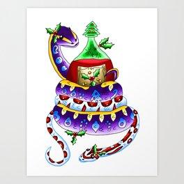 Snake Piece #48 - Christmas Potion Art Print