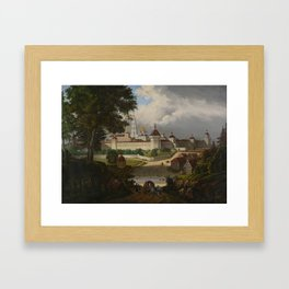 Russian School (19th century) The Great Lavra of the Trinity and St. Sergei at Sergiev Posad Framed Art Print