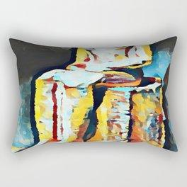 Hatshepsut in the Metropolitan Museum of Art in NYC Rectangular Pillow