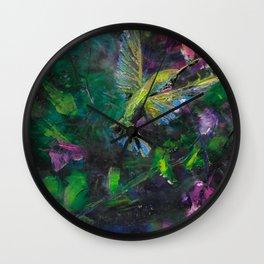 Mystical Hummingbird Wall Clock