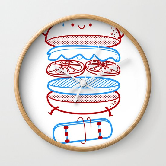 Street burger  Wall Clock