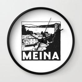 Meina, Lago Maggiore, Italy Wall Clock