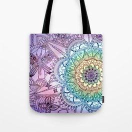 Purple Butterfly Mandala Tote Bag