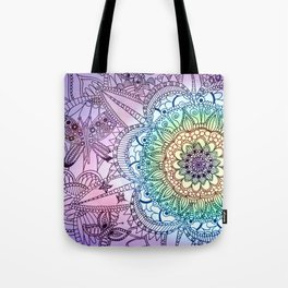 Purple Butterfly Mandala Tote Bag