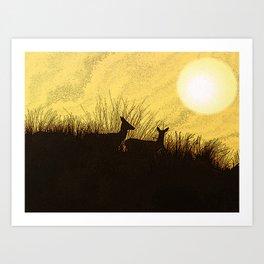 Safari Deer Art Print