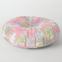 Down the Rabbit Hole Pattern Floor Pillow