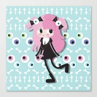 pastel goth Canvas Prints featuring Pastel Goth by Irene Dose