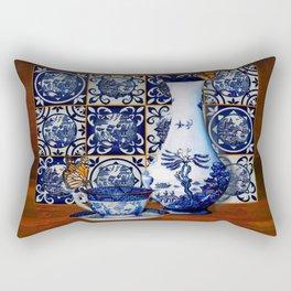 Blue Willow Stillife Rectangular Pillow