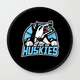 Outpost 31 - Huskies Wall Clock