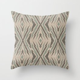 Geometric pattern. Rhombuses and lines #3  Throw Pillow