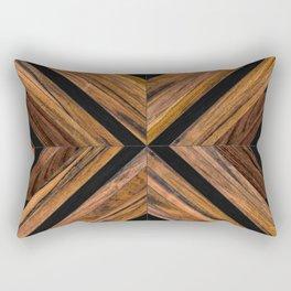 Urban Tribal Pattern 3 - Wood Rectangular Pillow