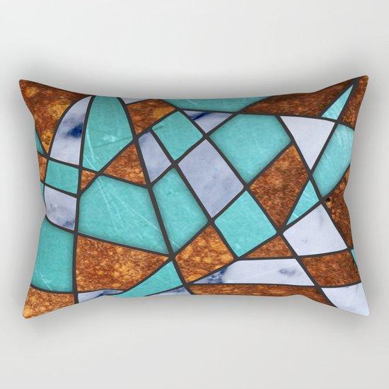 #477 Marble Shards & Copper Rectangular Pillow