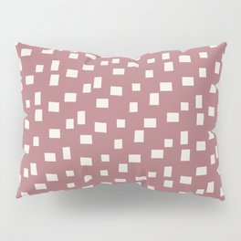 Rectangles 4 | Pattern in Neutral Rose and Cream Pillow Sham