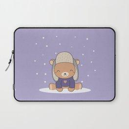 Kawaii Cute Winter Bear Laptop Sleeve