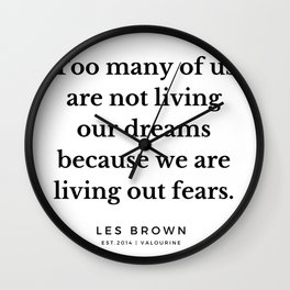 24    |  Les Brown  Quotes | 190824 Wall Clock