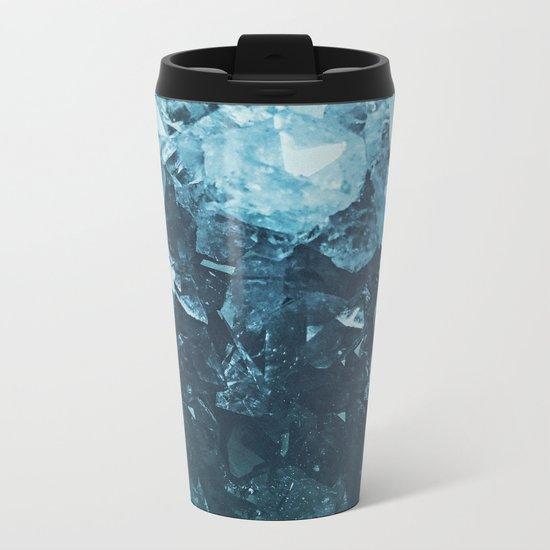 Aquamarine Gem Dreams Metal Travel Mug