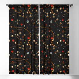 Pattern Christmas Time Blackout Curtain