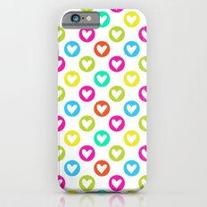 Colorful hearts  Slim Case iPhone 6s