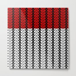 Red Line Red Peak Metal Print