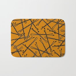 Bobby Pins Scattered Bath Mat