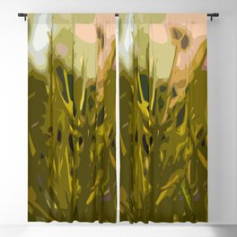 Alien Plant Life Blackout Curtain
