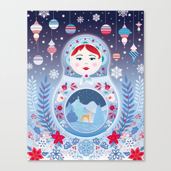 Our Lady of Winter Canvas Print