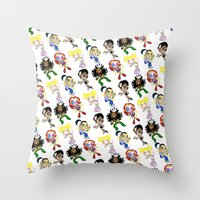 spice girls Throw Pillows featuring SPICE UP YOUR LIFE! by Bryan Hollingsworth