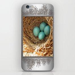 Four American Robin Eggs iPhone Skin