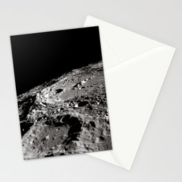 Terraced Wall Crater on the Lunar Limb Stationery Cards