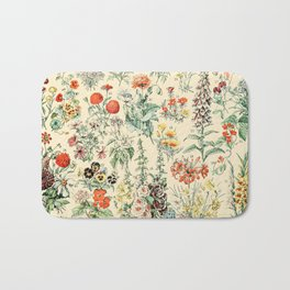 Wildflower Diagram // Fleurs II by Adolphe Millot XL 19th Century Science Textbook Artwork Bath Mat