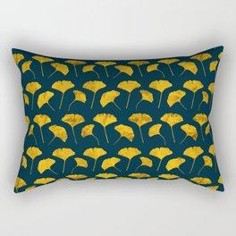 Yellow ginkgo leaves pattern Rectangular Pillow