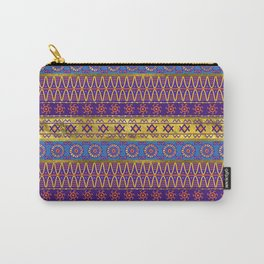 Colorful African Ethnic Tribal Pattern Carry-All Pouch