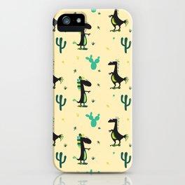 Cute Desert Dinosaurs iPhone Case