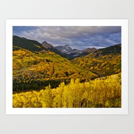 Aspen Sunrise, Colorado Art Print
