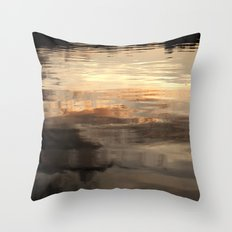 Abstract Sunset Reflection Throw Pillow