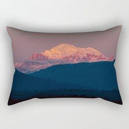Sunset on Mount Baker Rectangular Pillow